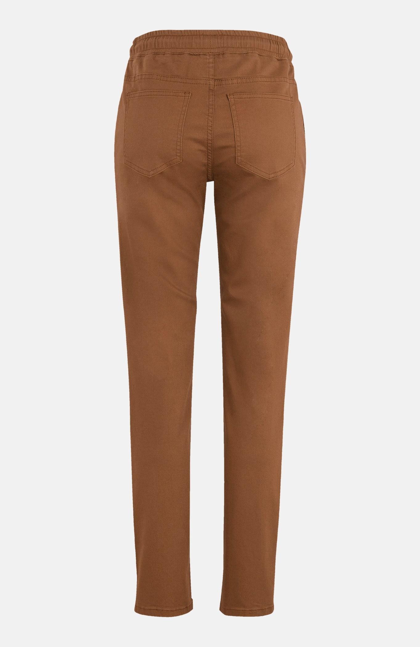 Luźne spodnie z gumą w pasie