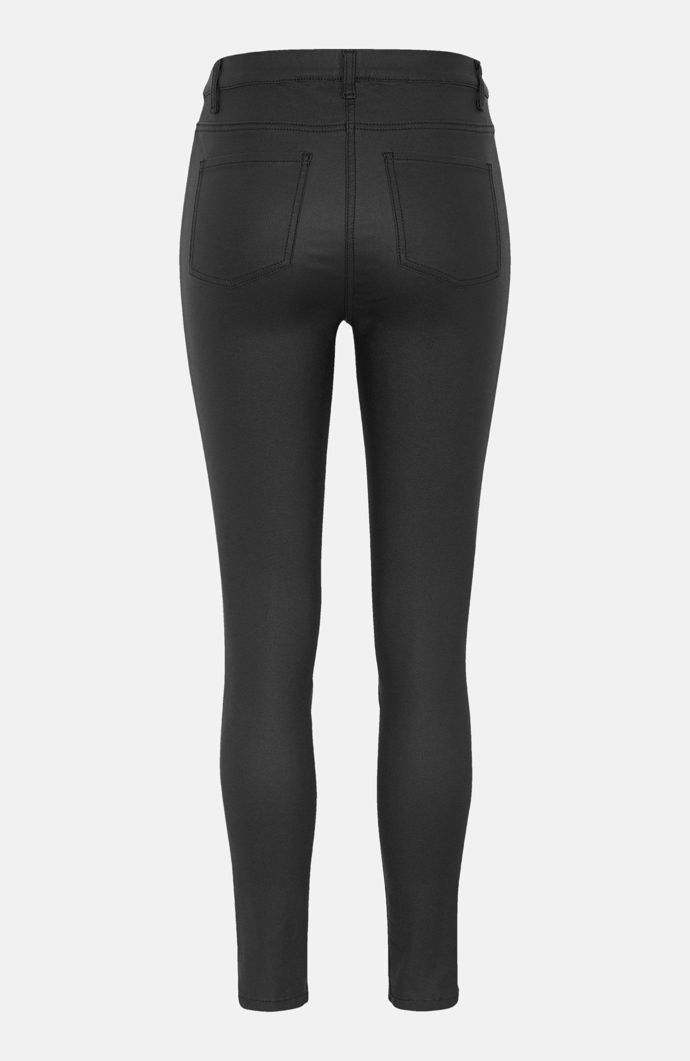 Elastyczne spodnie z woskowaną powierzchnią