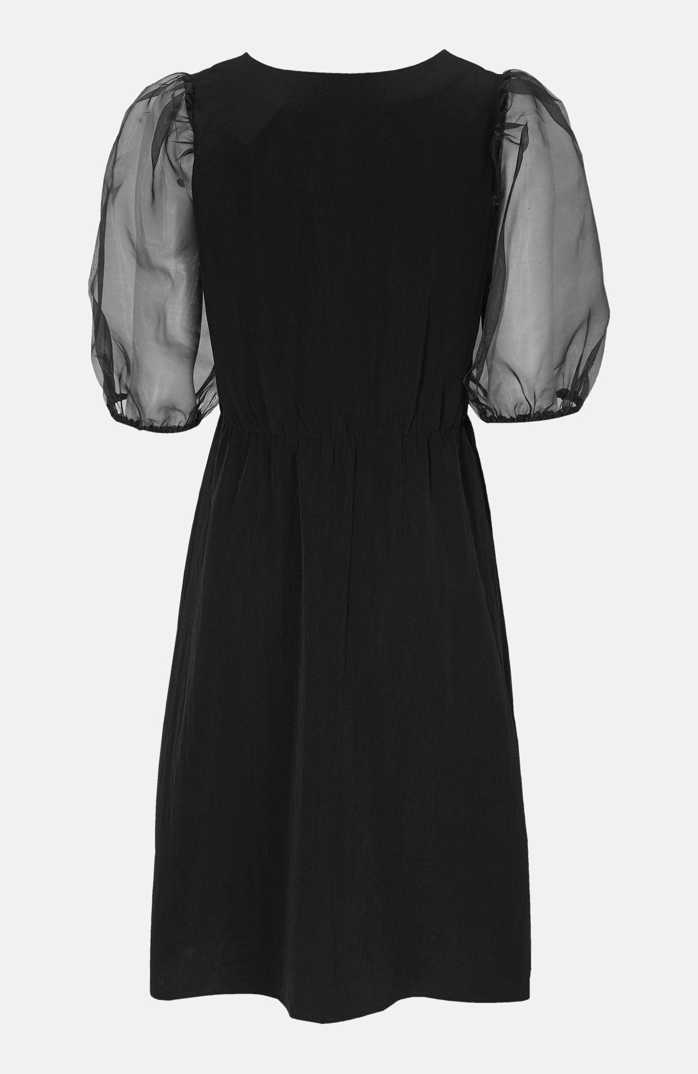 Sukienka zorganzy zbufiastymi rękawami