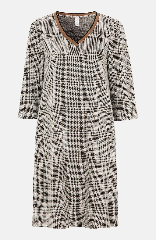 Dżersejowa sukienka w kratkę Kiara