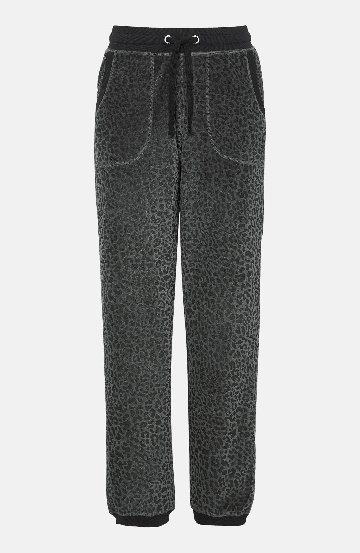 Spodnie welurowe ze ściągaczem