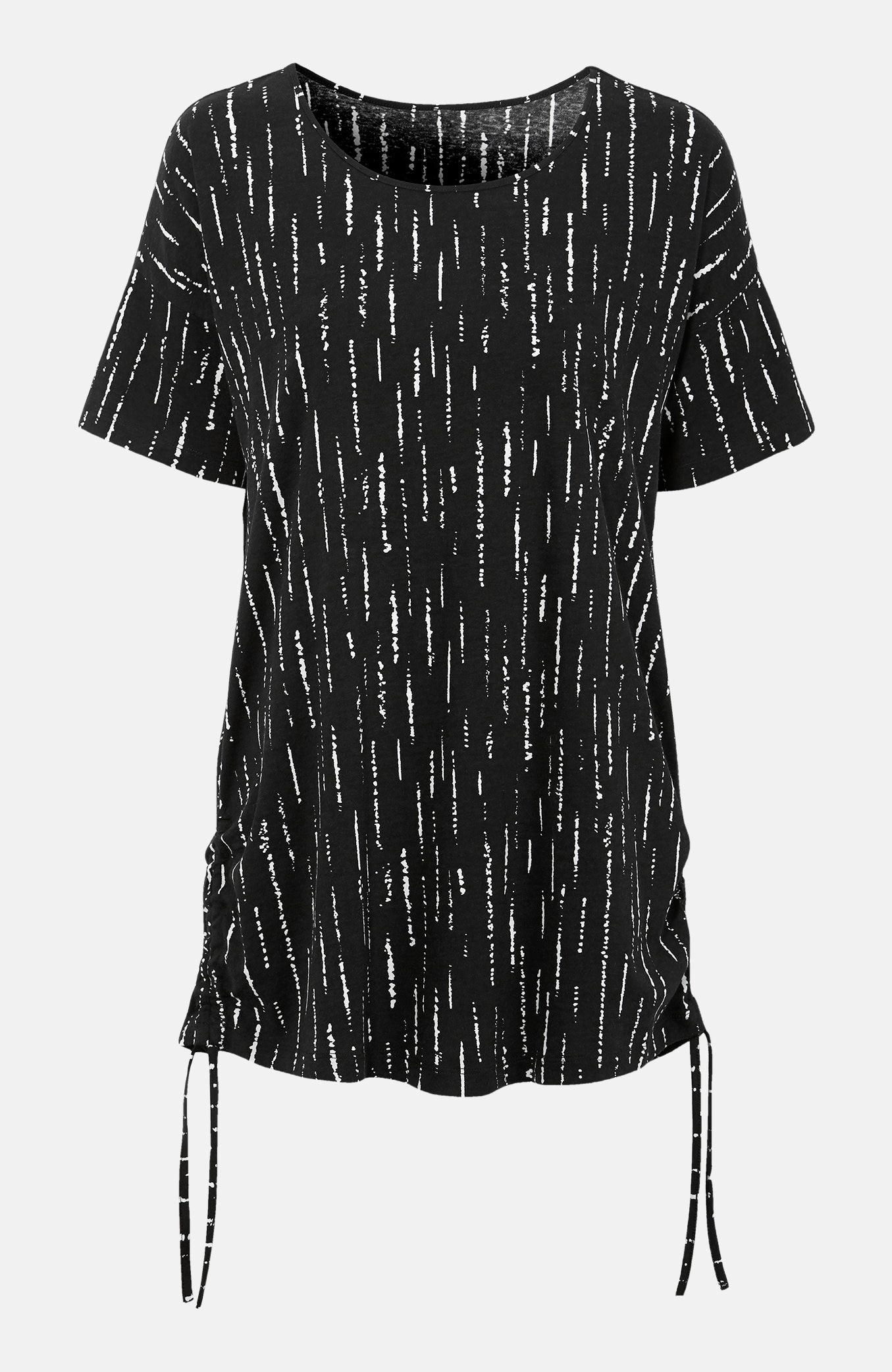 Dłuższa bluzka z krótkim rękawem 2 sztuki