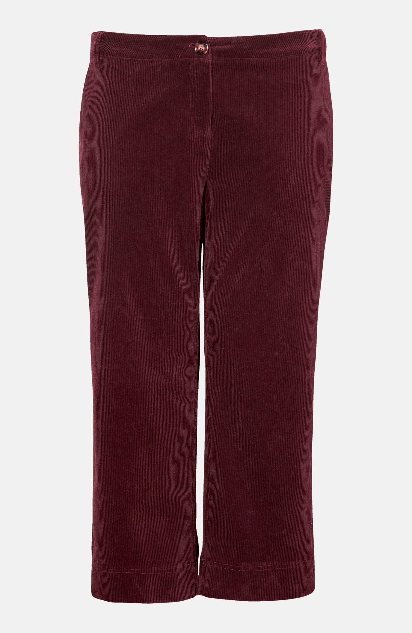 Spodnie do kostki ze sztruksu ze stretchem Rupi