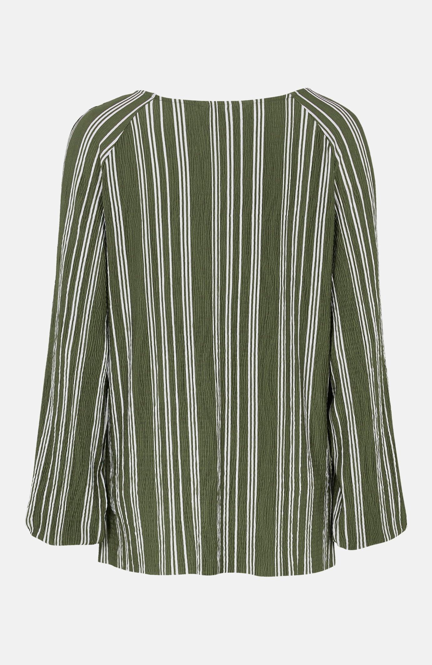 Bluzka wpaski zgniecionego dżerseju