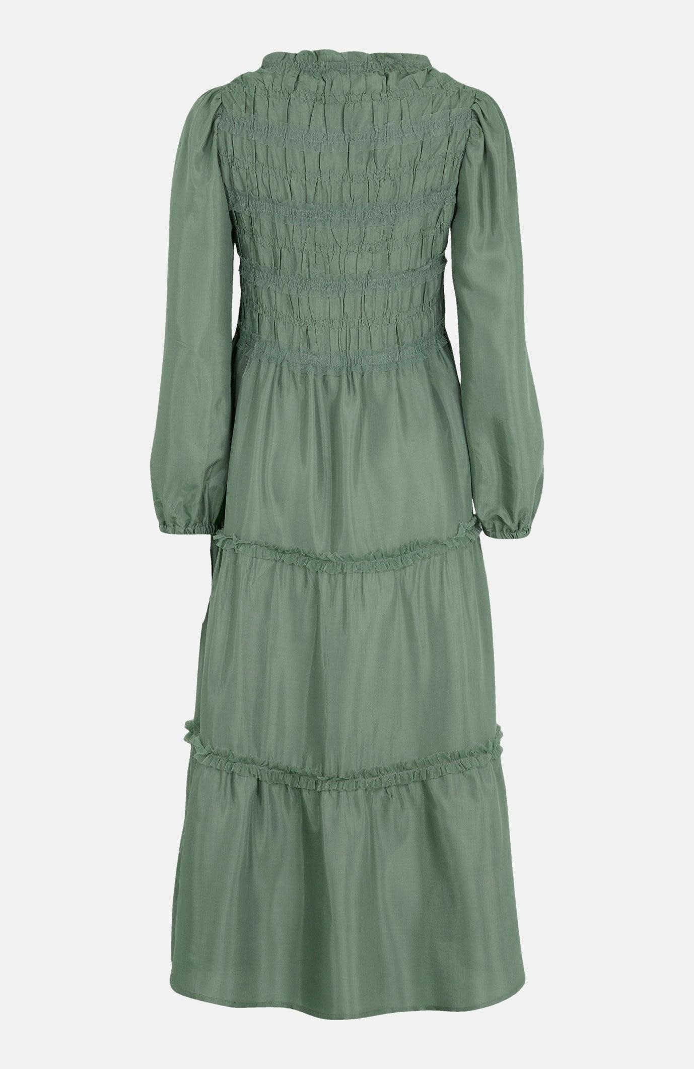 Długa sukienka zmarszczeniem Mockia