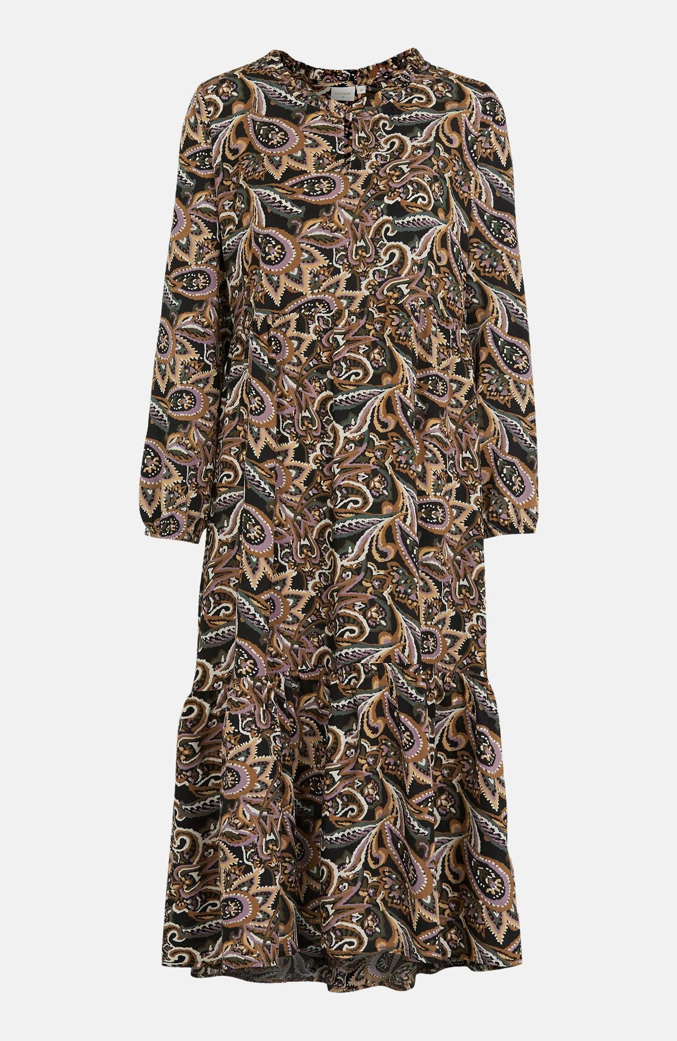 Wzorzysta sukienka zwiskozy Tulina