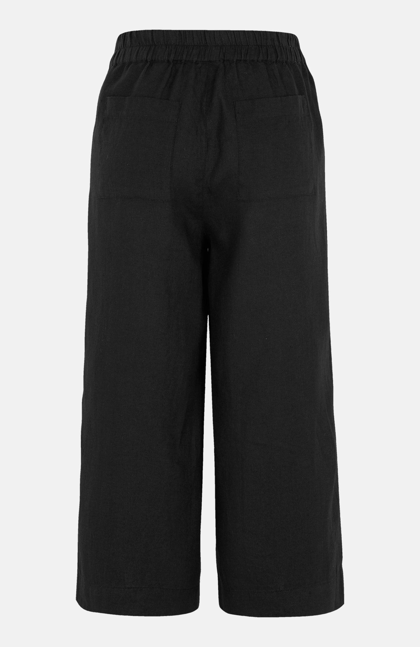 Lniane spodnie typu culotte