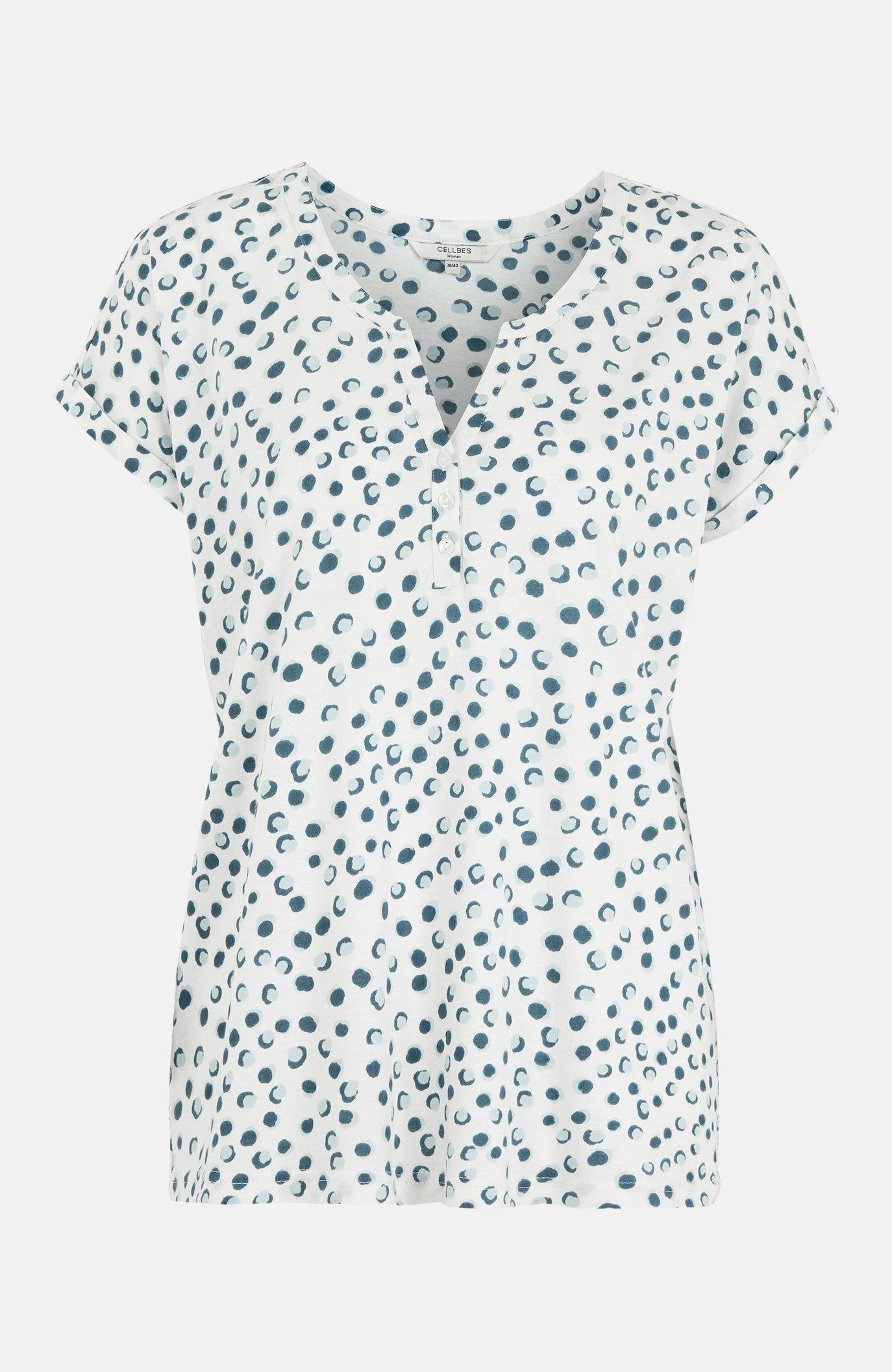 Wzorzysta bluzka dżersejowa