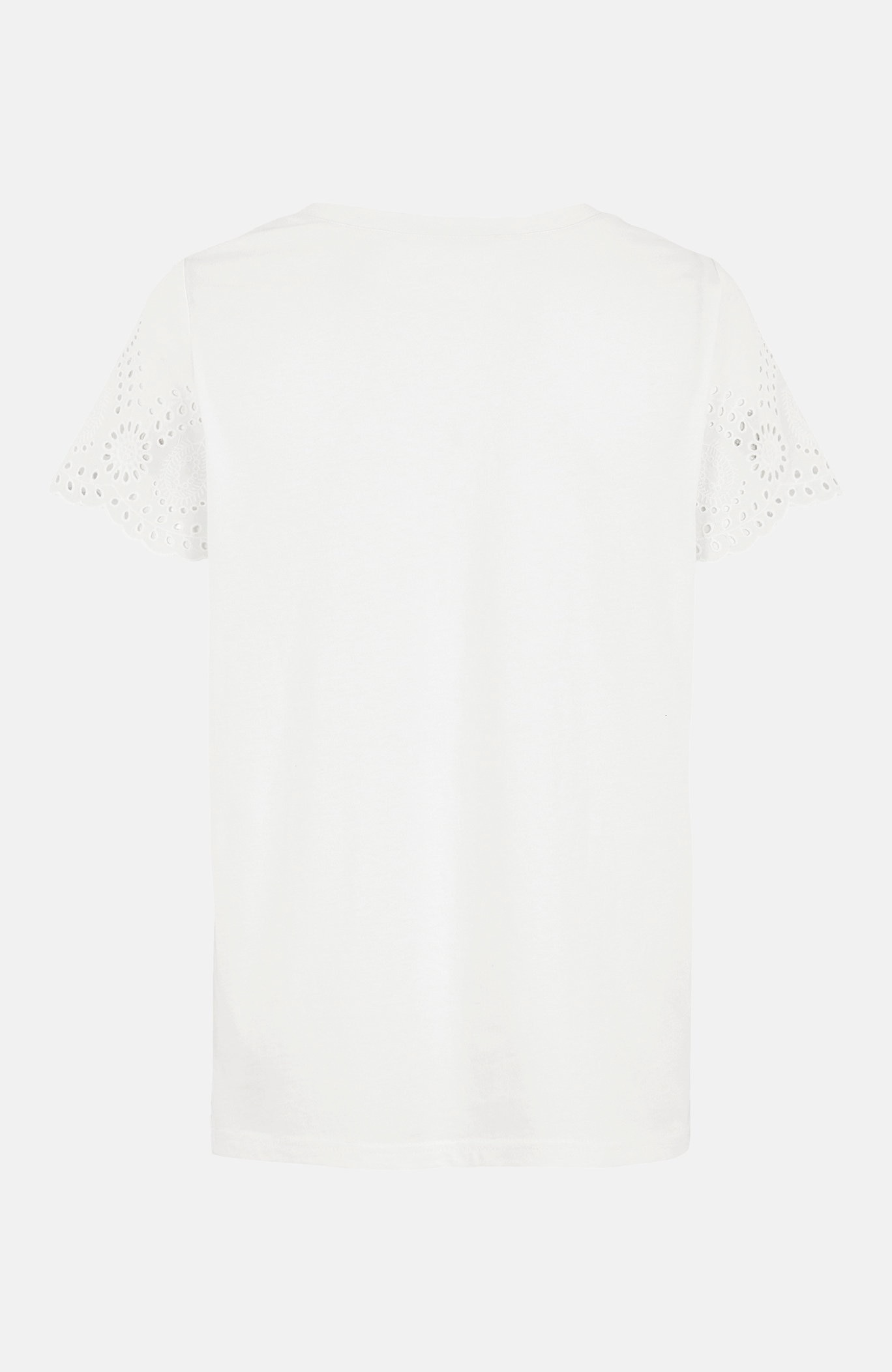 Bluzka dżersejowa zhaftem ażurowym