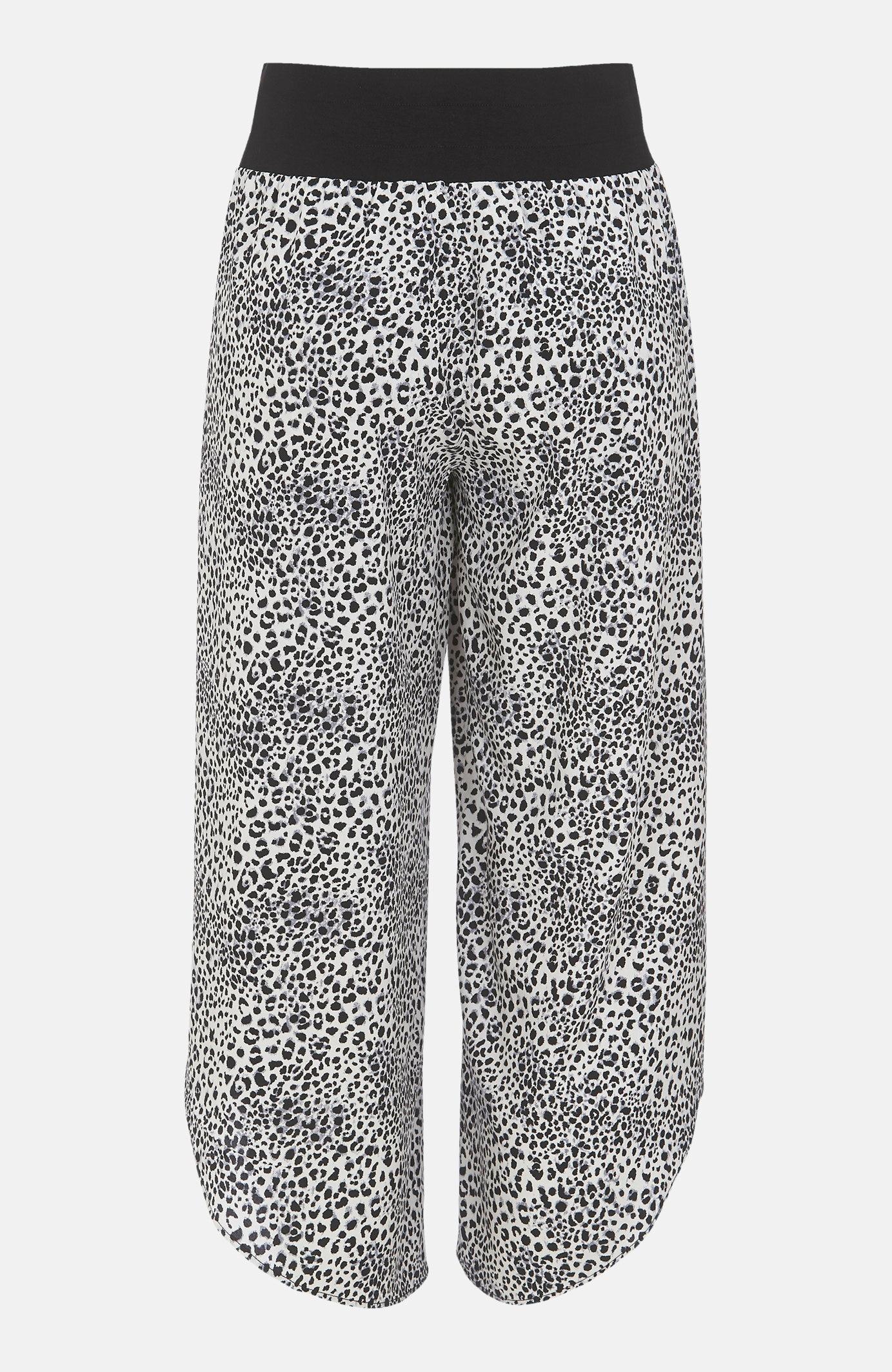 Spodnie typu culotte zrozcięciami