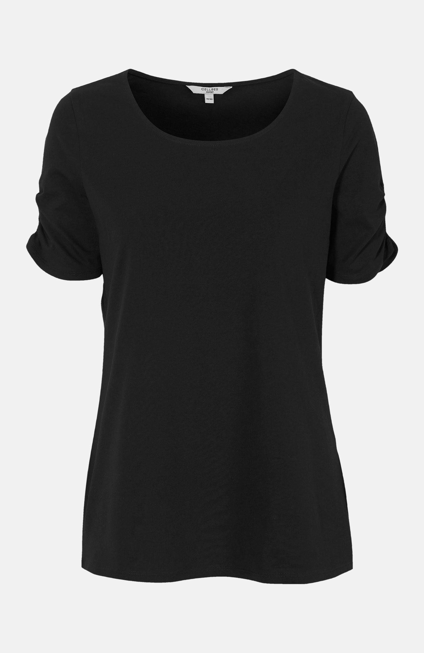 Wzorzysta bluzka zkrótkim rękawem 2 sztuki