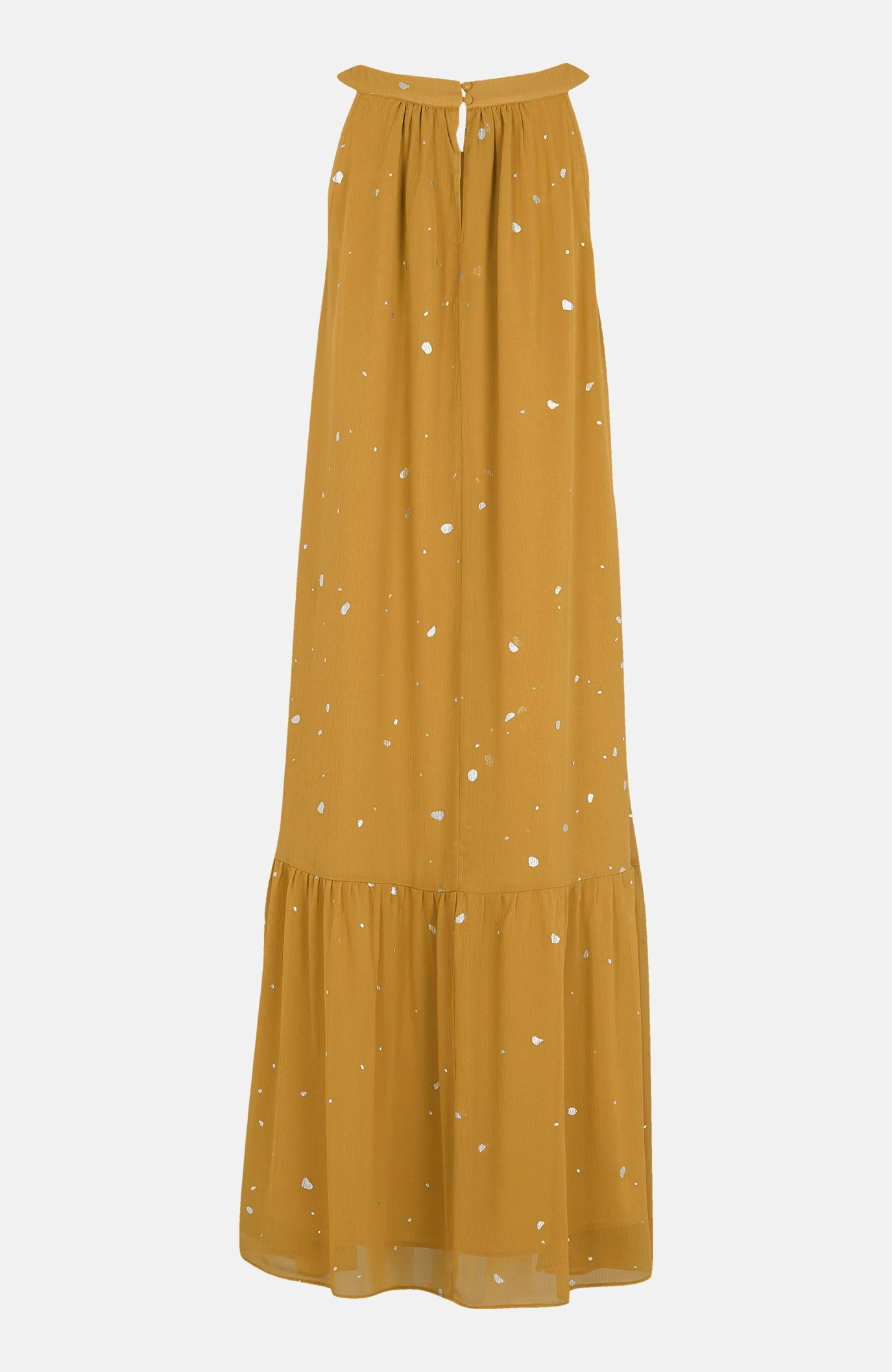 Szyfonowa sukienka wsrebrne kropki