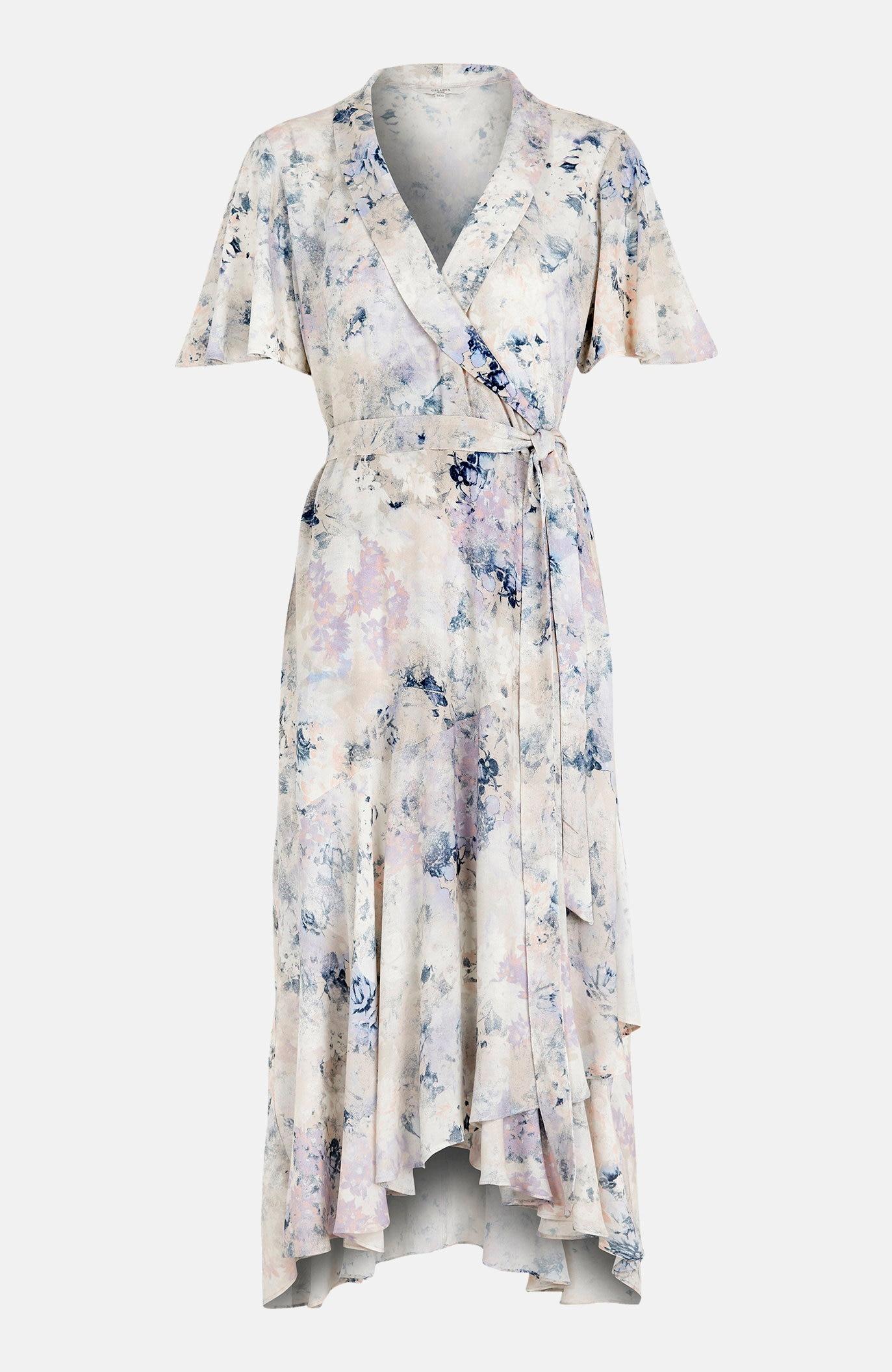 Sukienka kopertowa zfalbanką