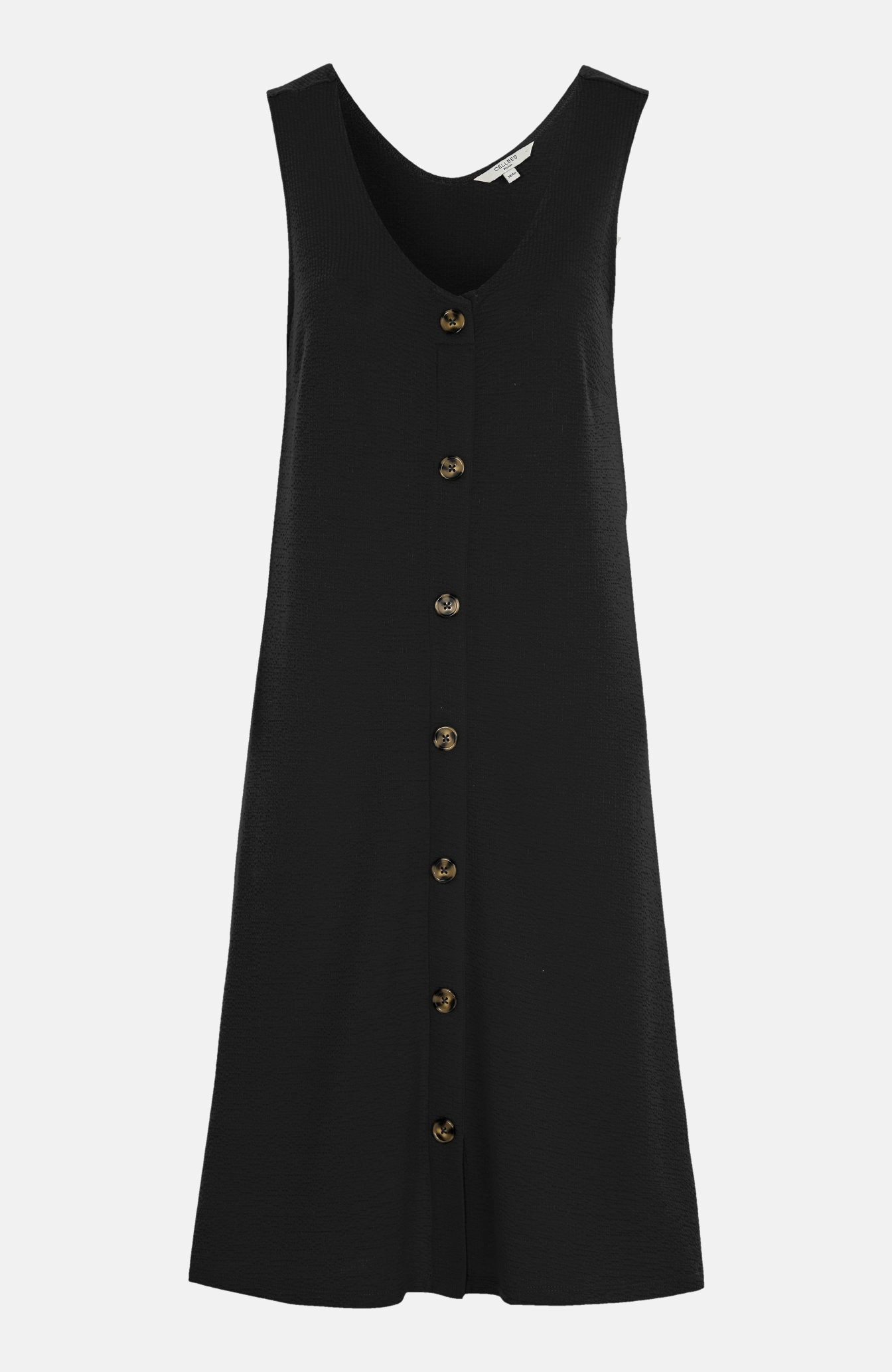 Gnieciona sukienka dżersejowa zguzikami