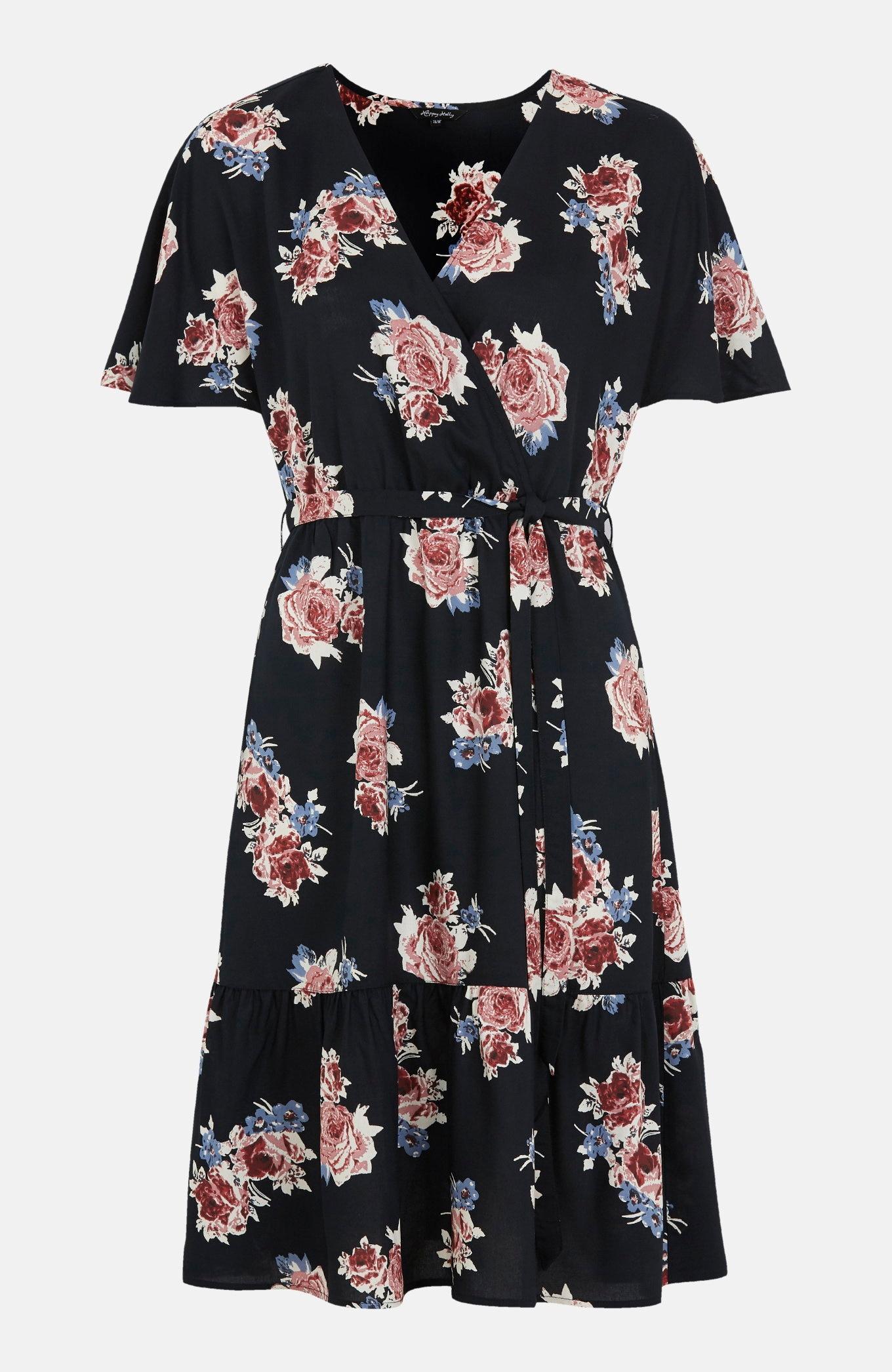 Sukienka zwiskozy wkwiaty Olivia