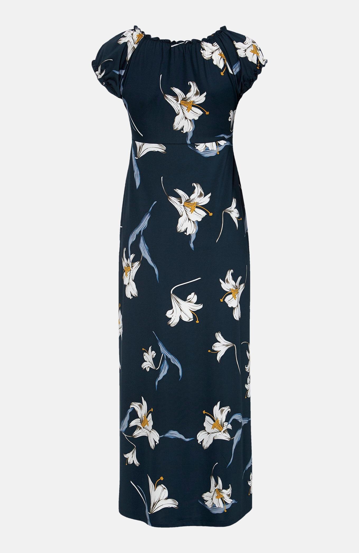 Wzorzysta sukienka zdżerseju Tessie