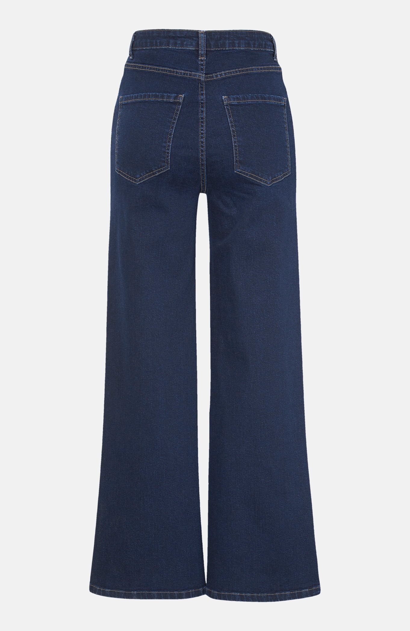 Dżinsy z bio bawełny ze szeroką nogawka spodni