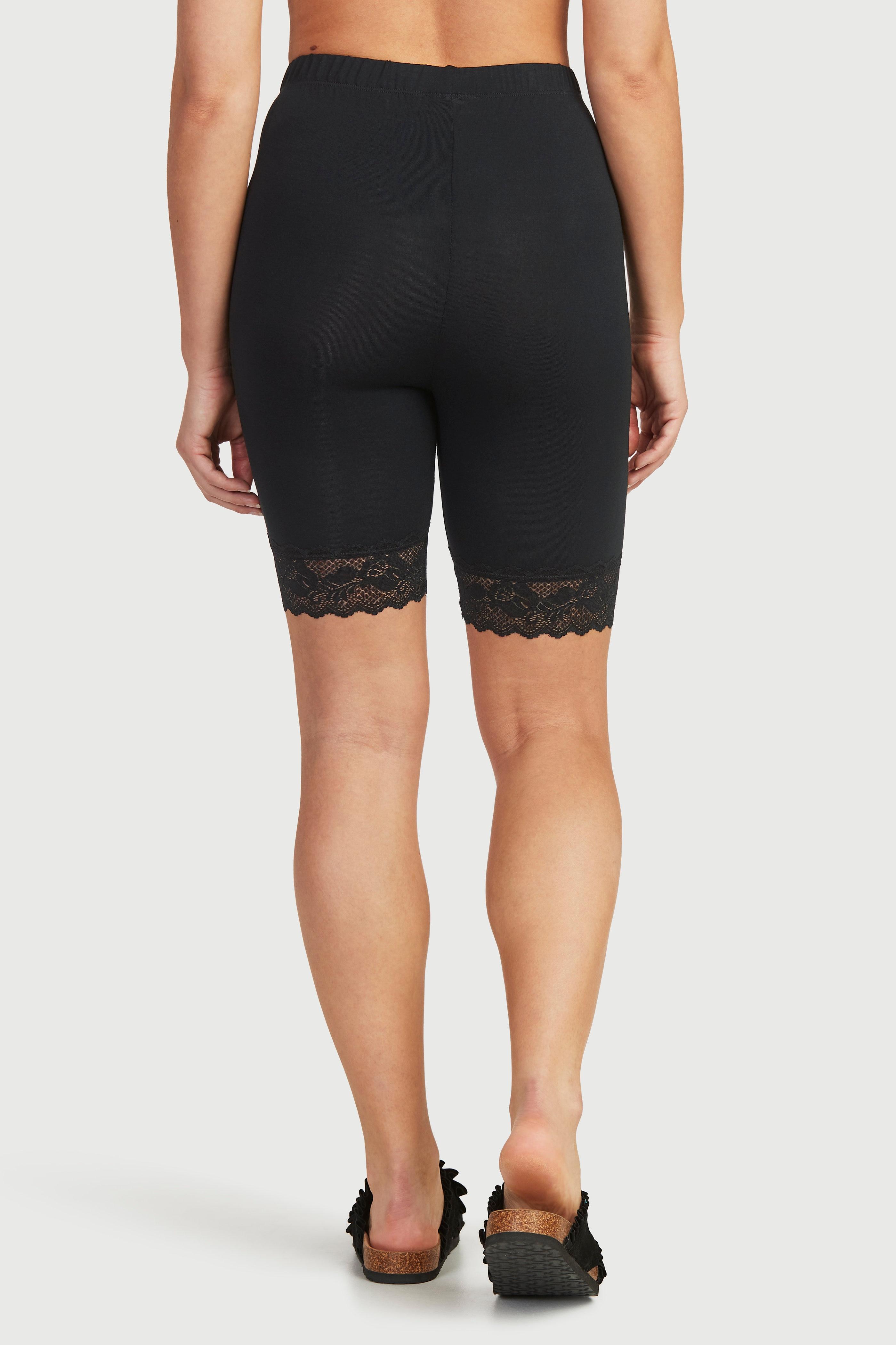 Spodnie rowerowe z koronką