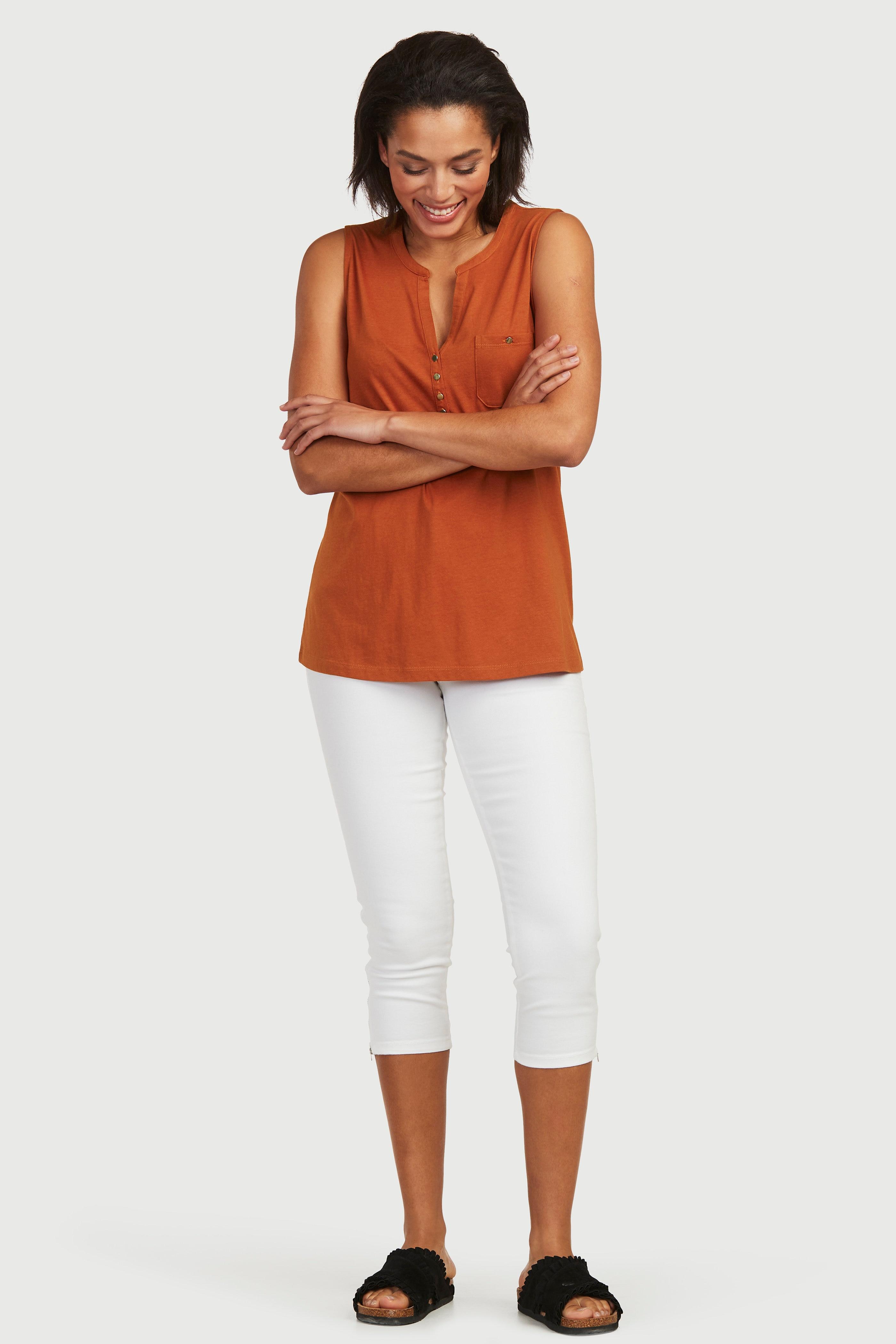 Dżersejowa bluzka bez rękawów