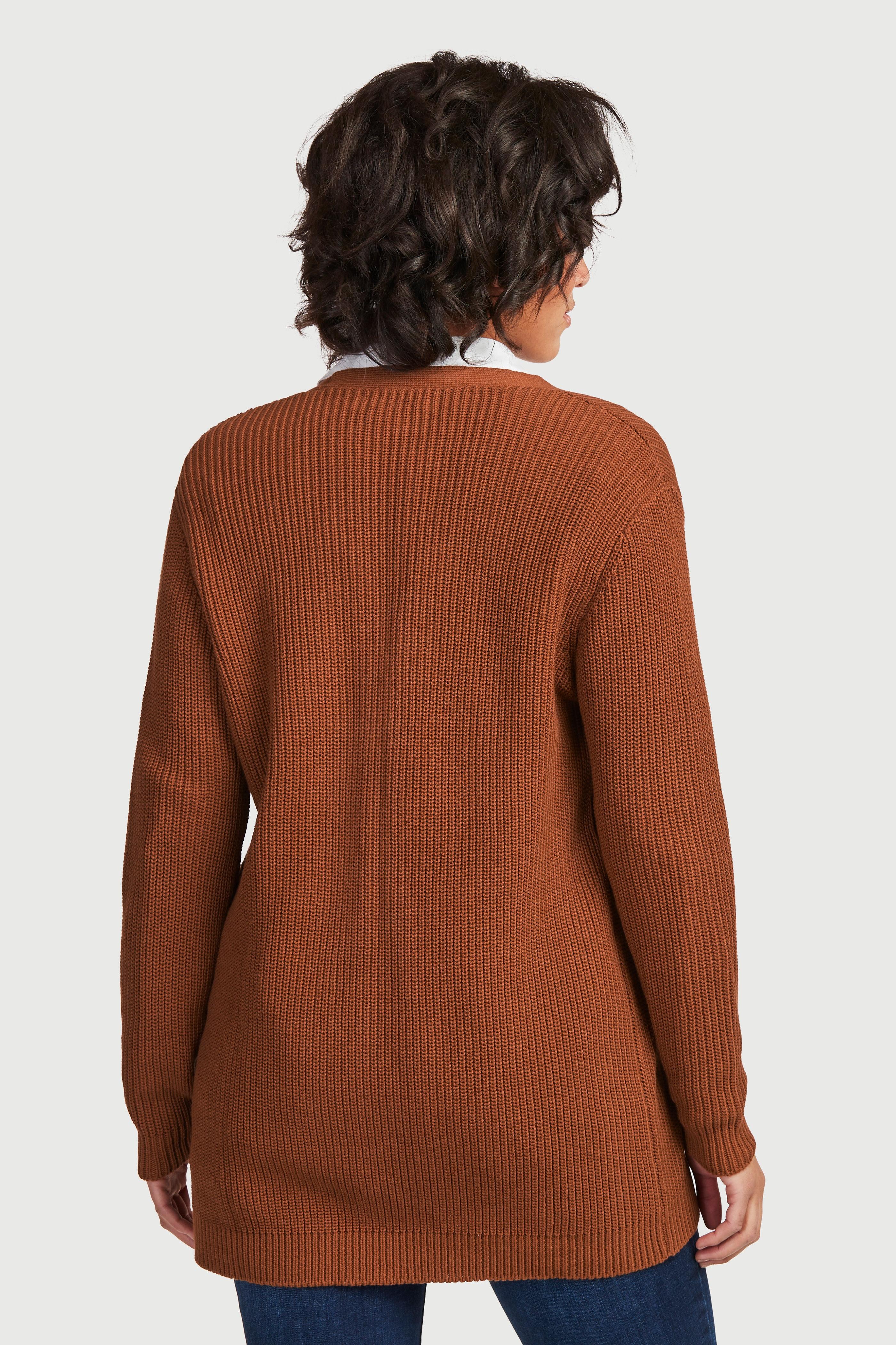 Rozpinany sweter z bawełny