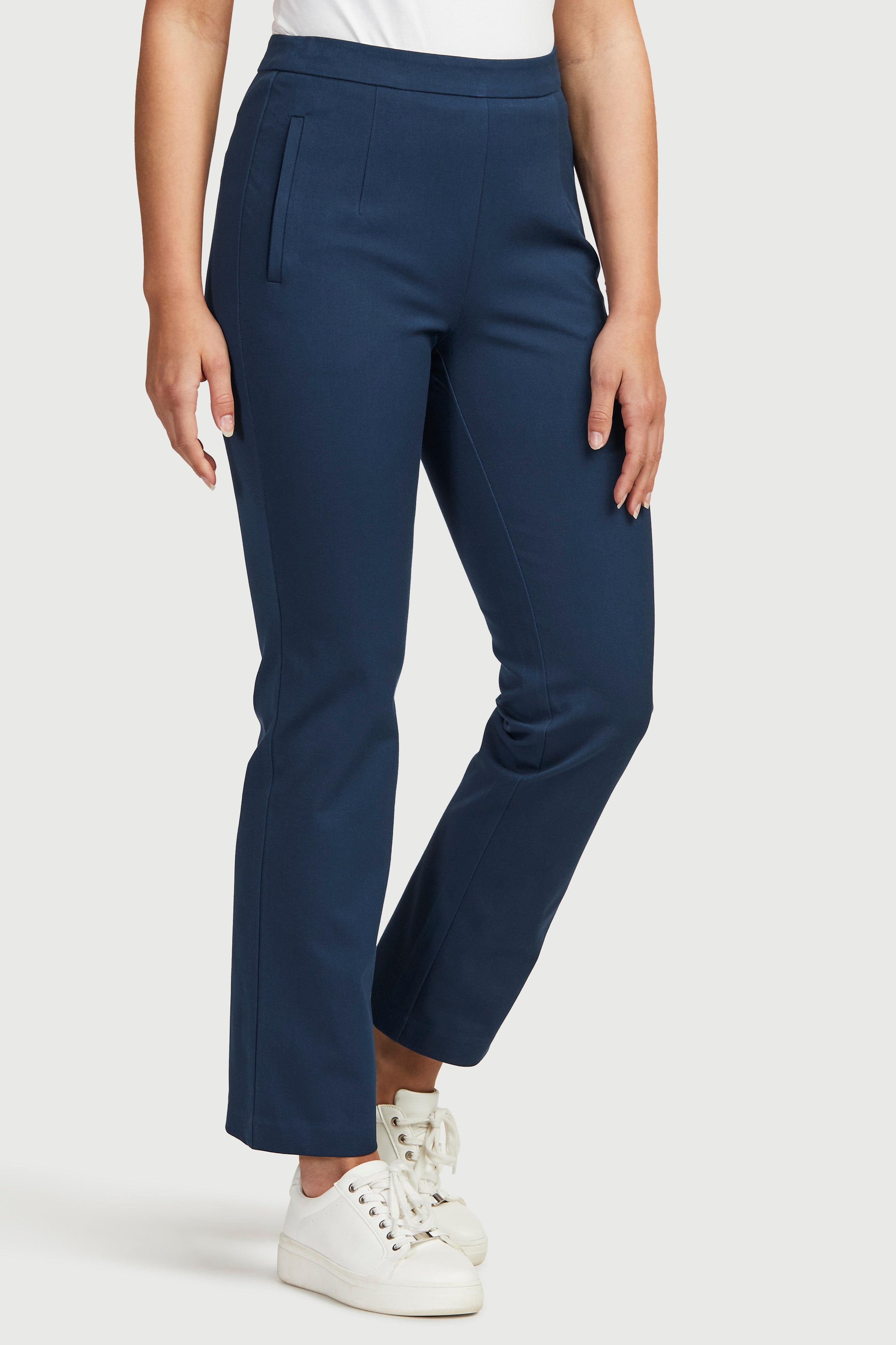 Proste spodnie ze stretchem