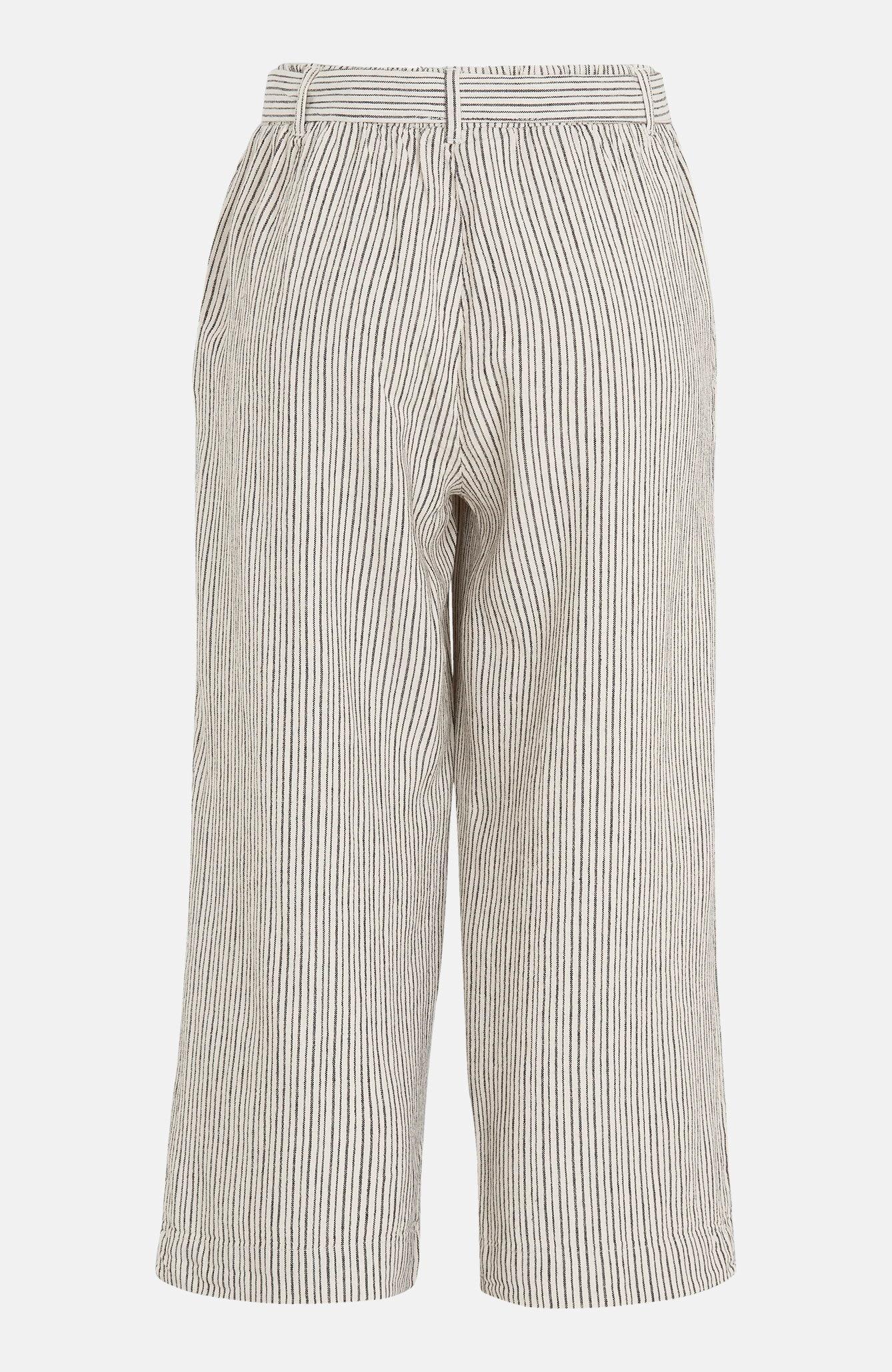Spodnie do kostki zmieszanki lnu Lavara