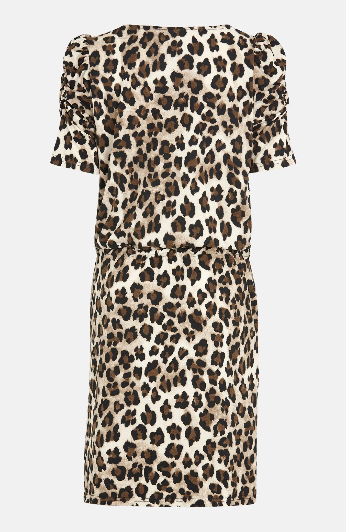 Dżersejowa sukienka we wzory zwierzęce. Moii