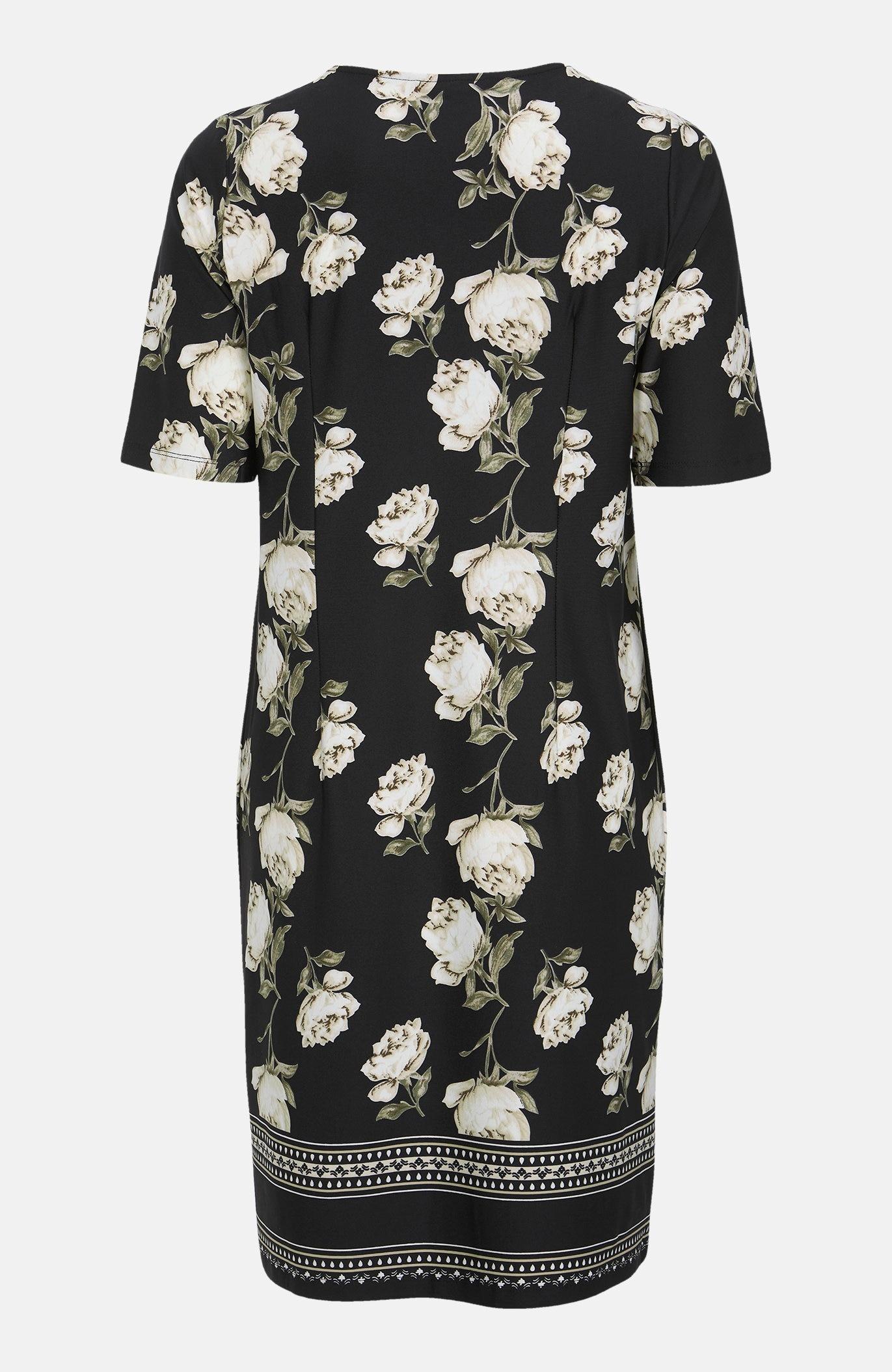 Wzorzysta sukienka zdżerseju Blenda
