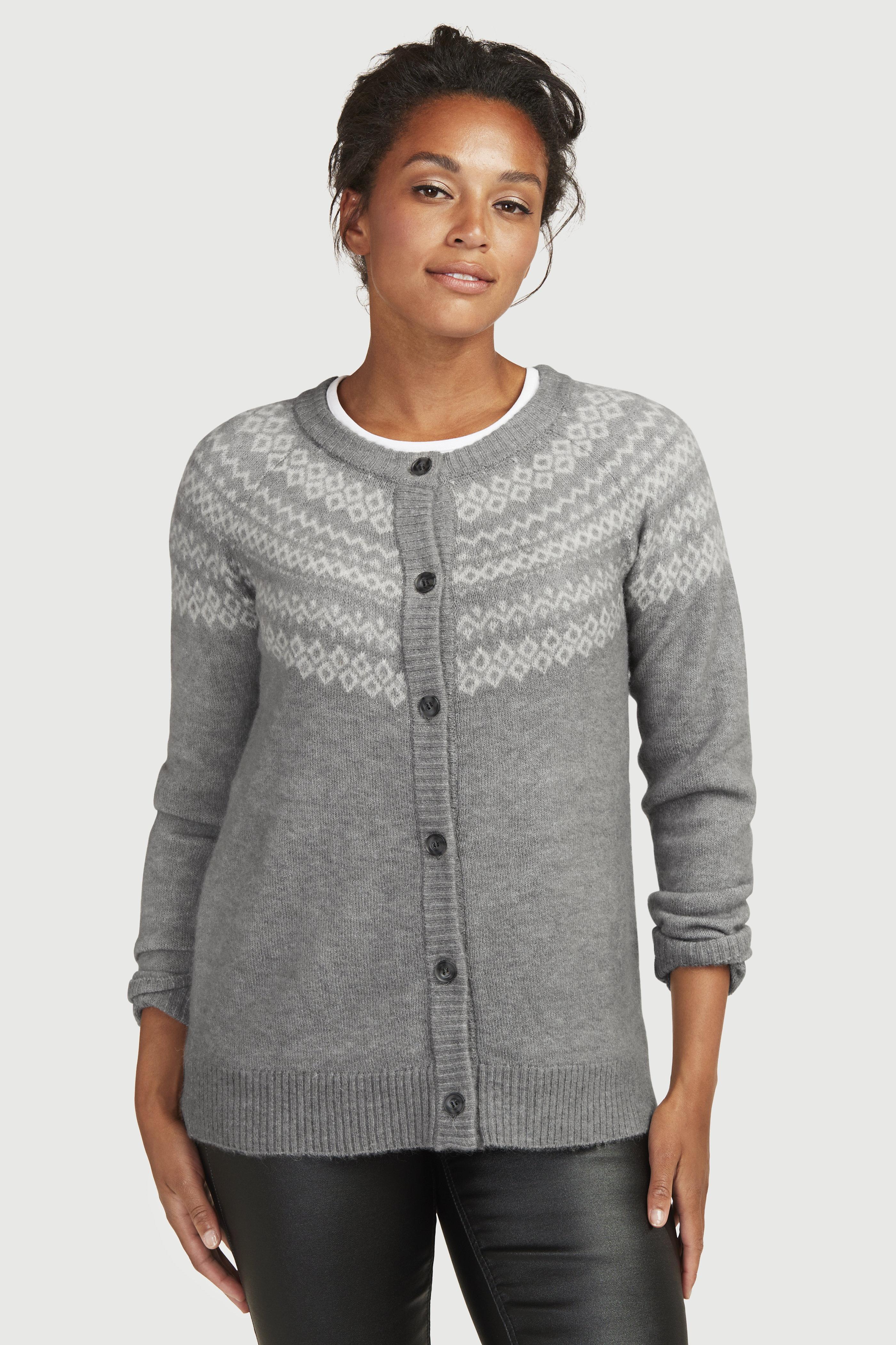 Dzianinowy rozpinany sweter
