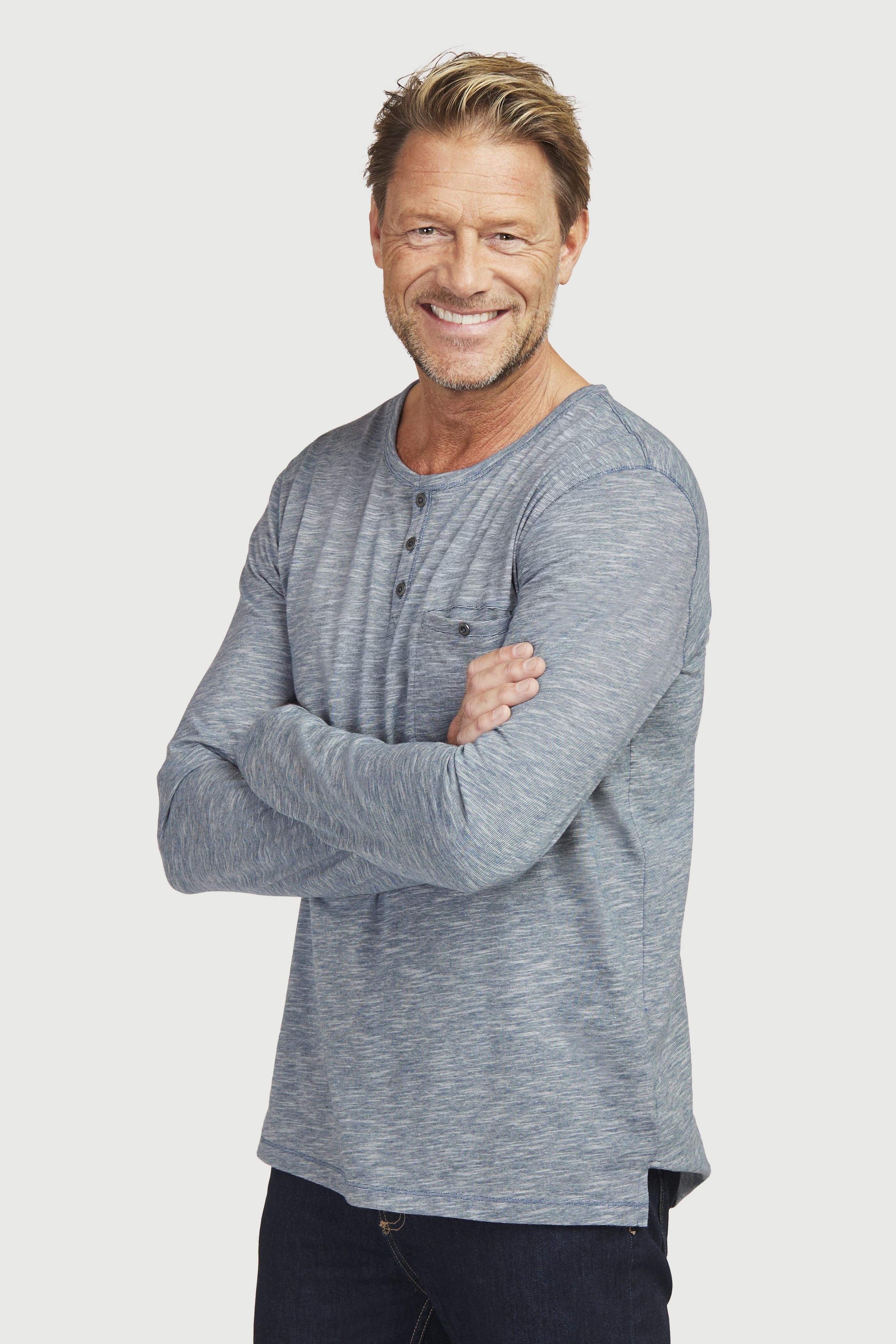 Koszulka typu Henley z długim rękawem