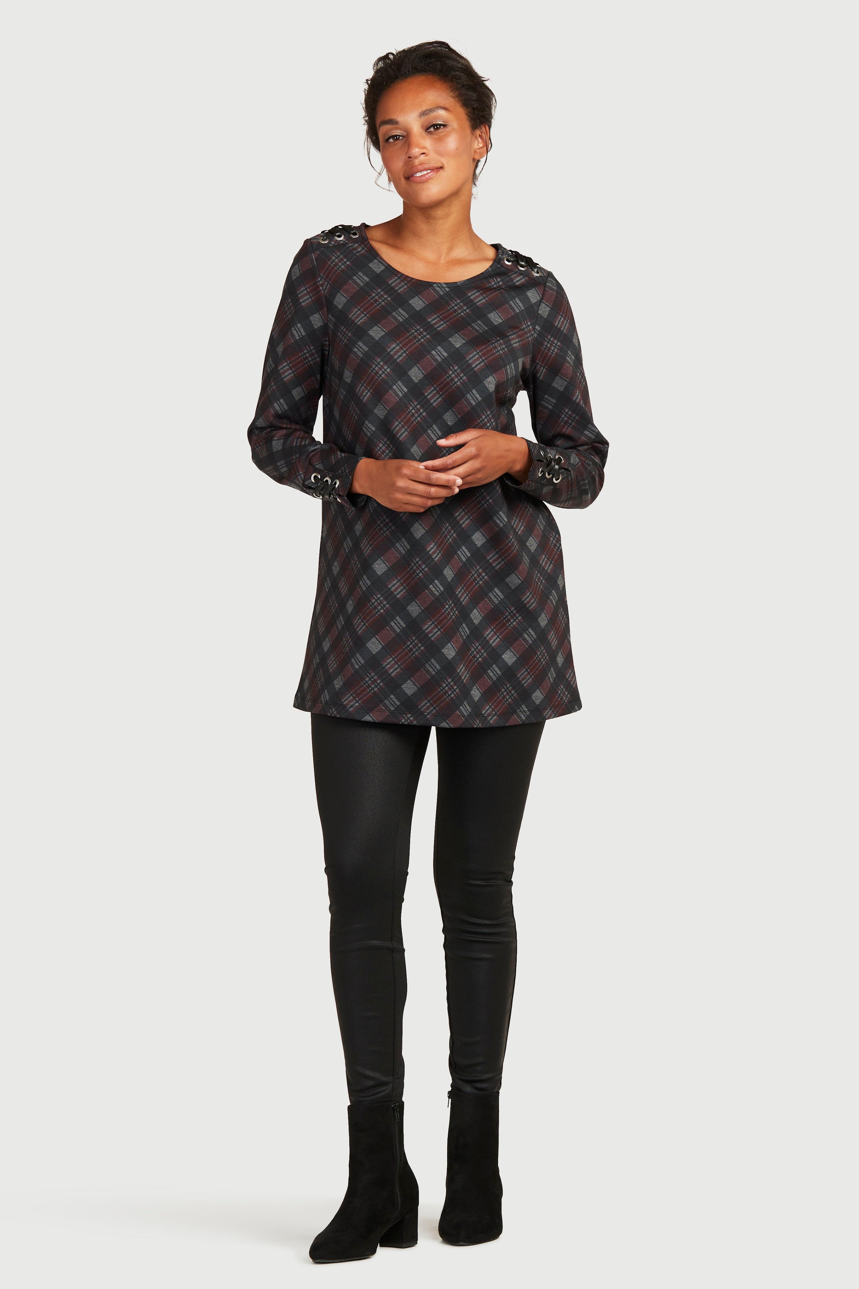 Elastyczne legginsy z PU z teksturą