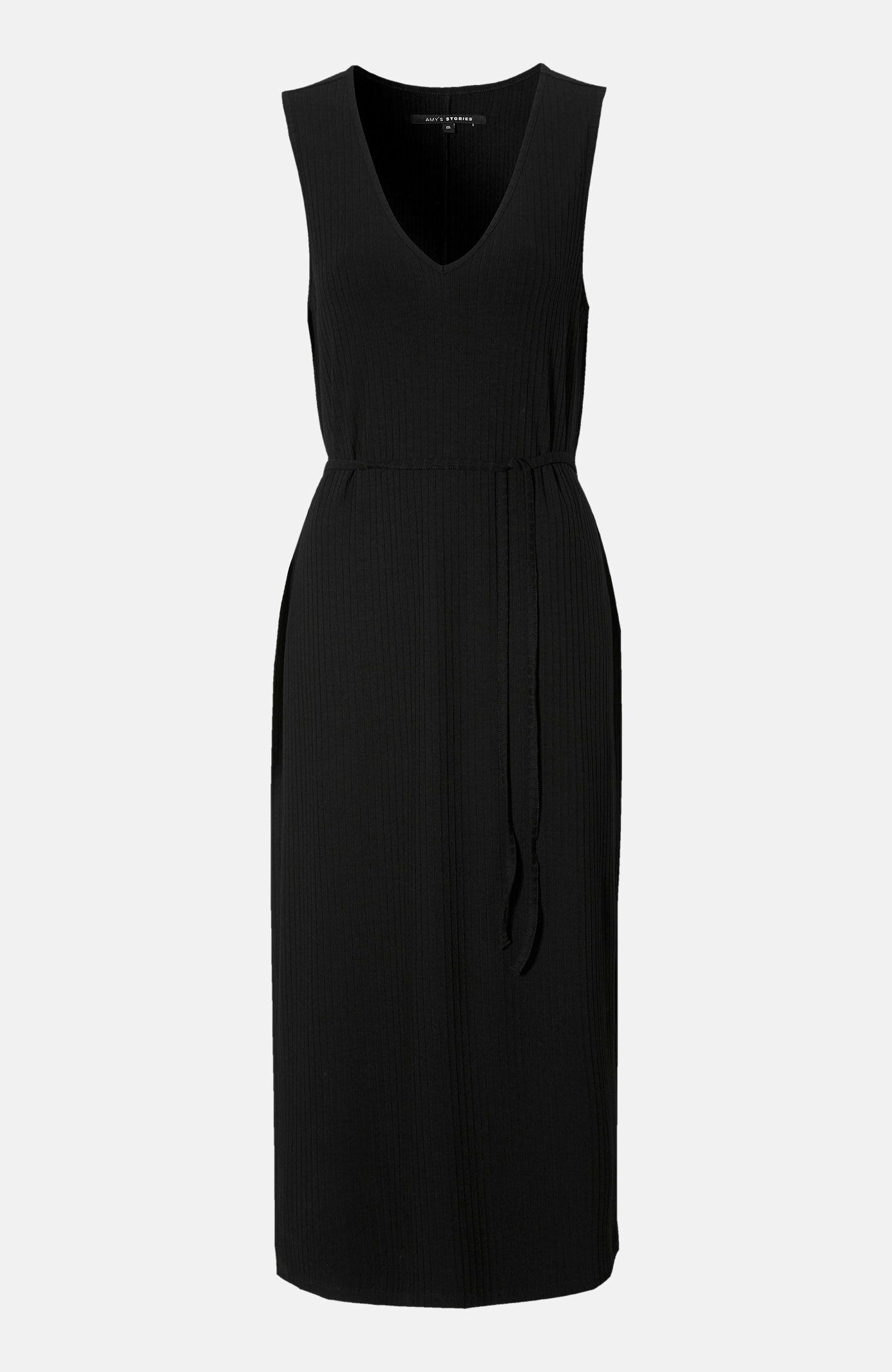 Sukienka zprążkowego materiału Ortensia