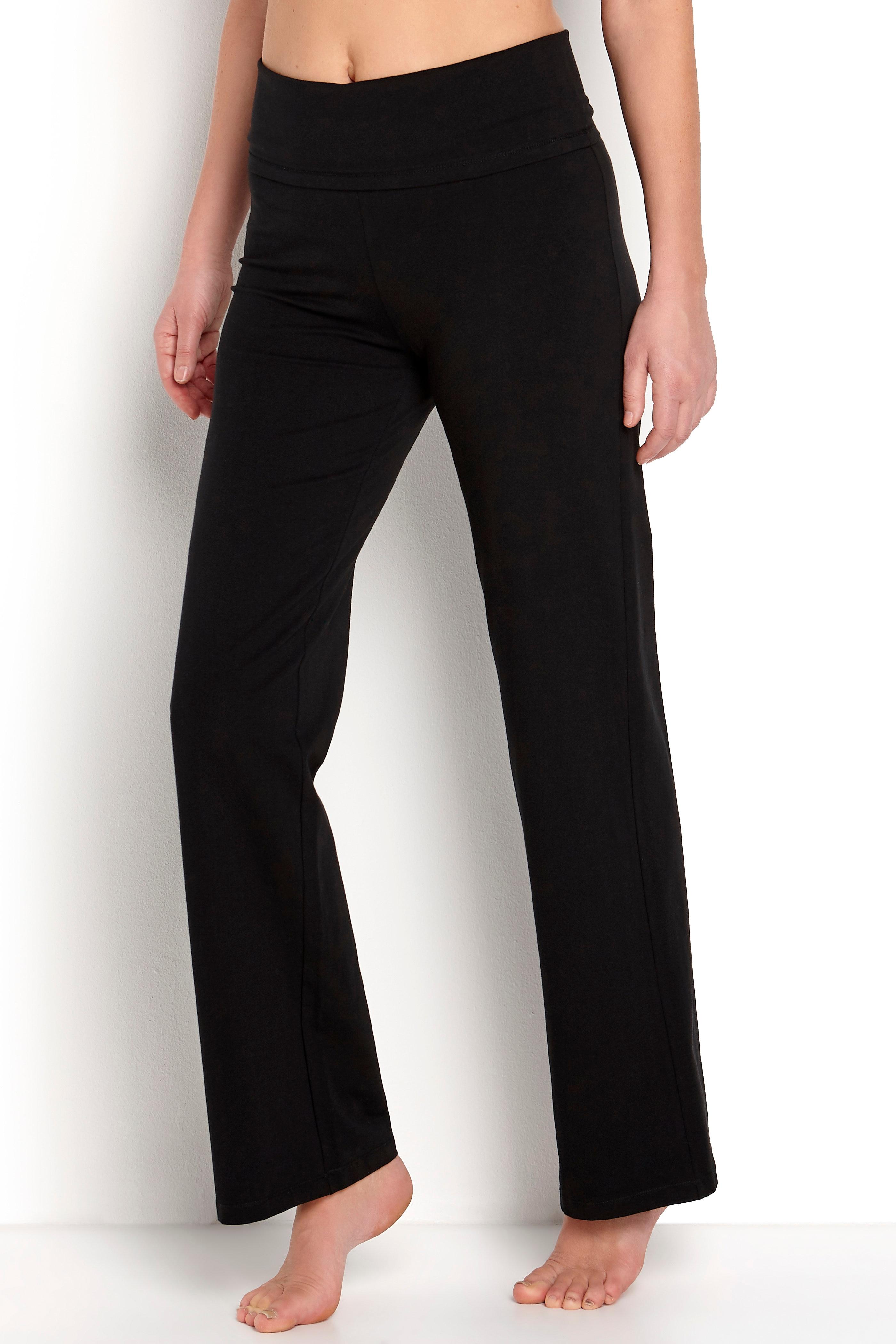 Spodnie zszerokim pasem