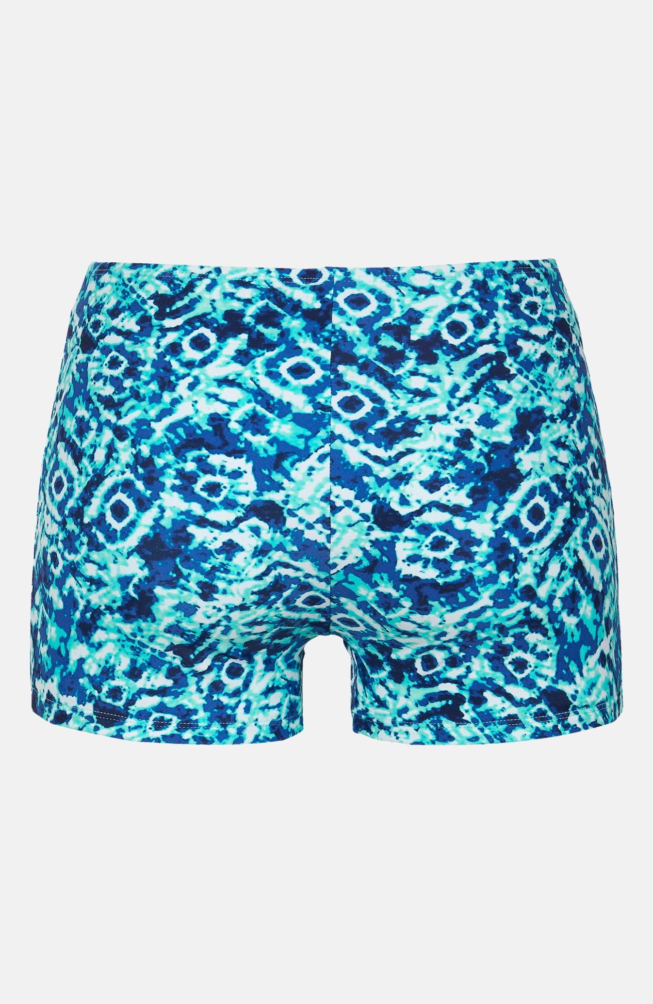 Bokserki od bikini w niebieskie wzory