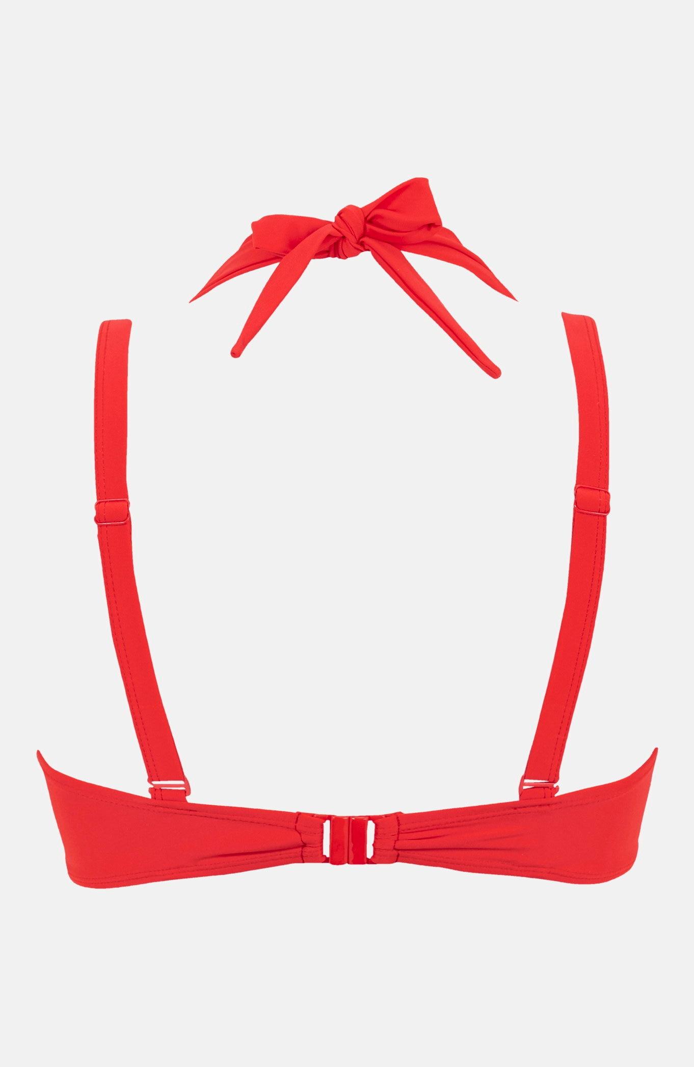 Czerwony biustonosz od bikini