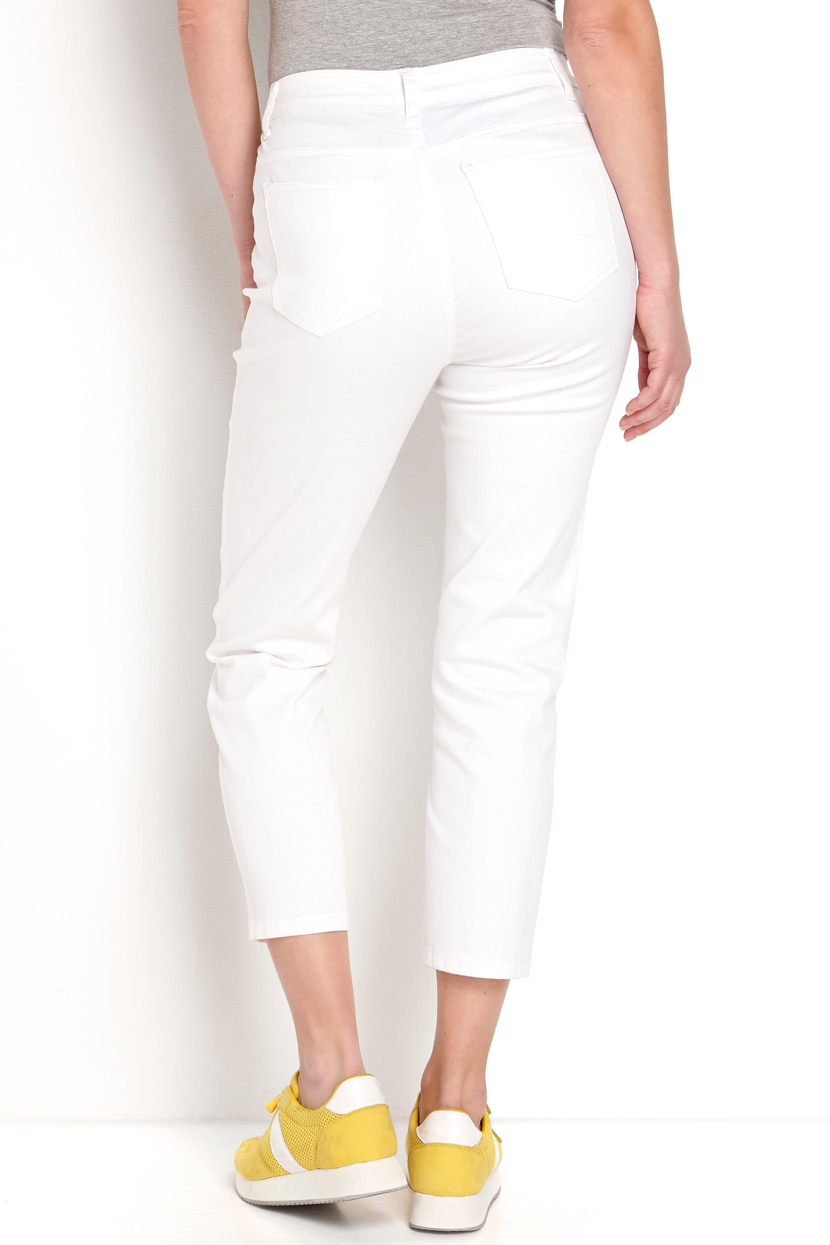 Rozciągliwe spodnie z materiału twill