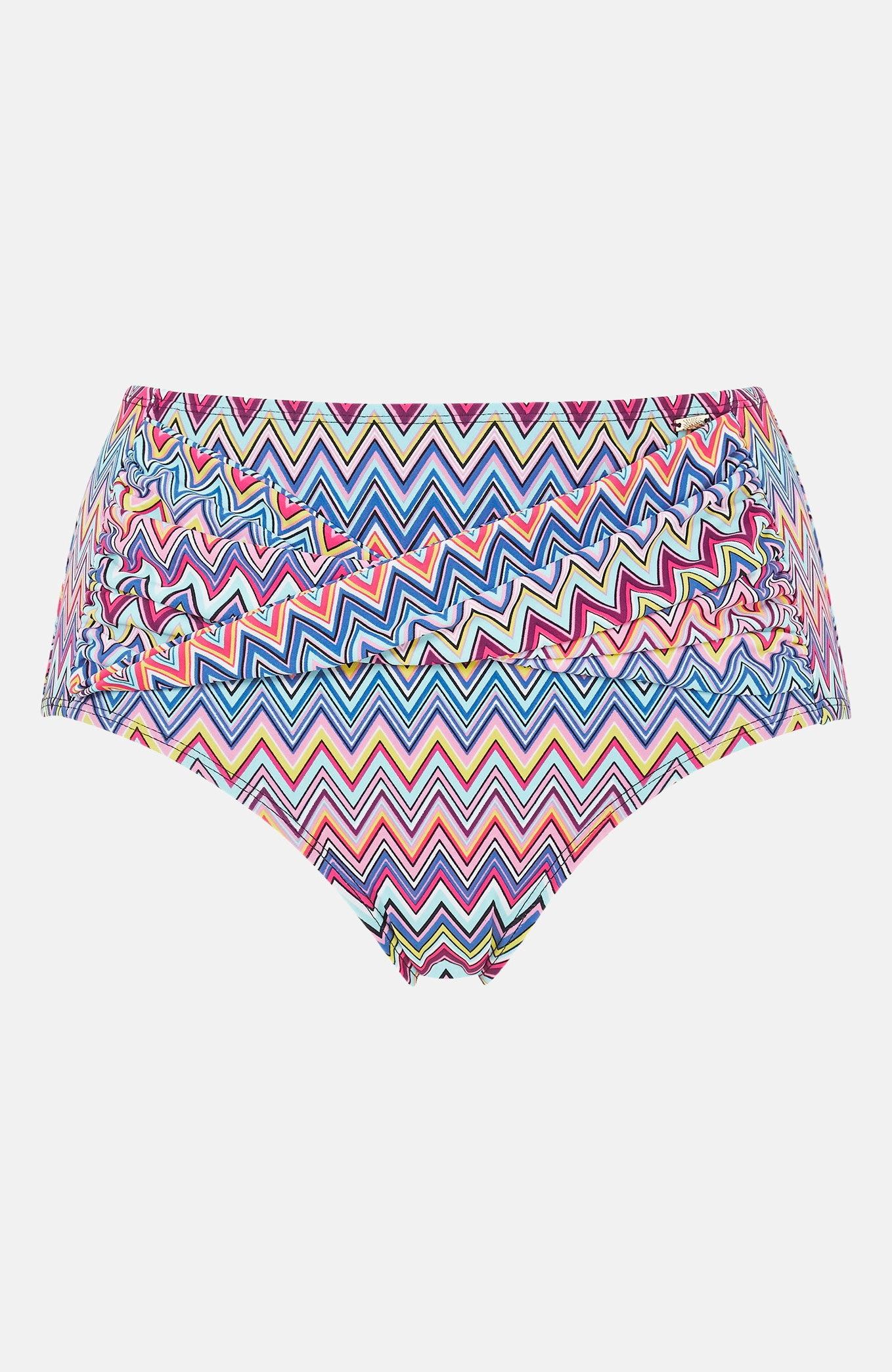 Wysokie majtki od bikini we wzory