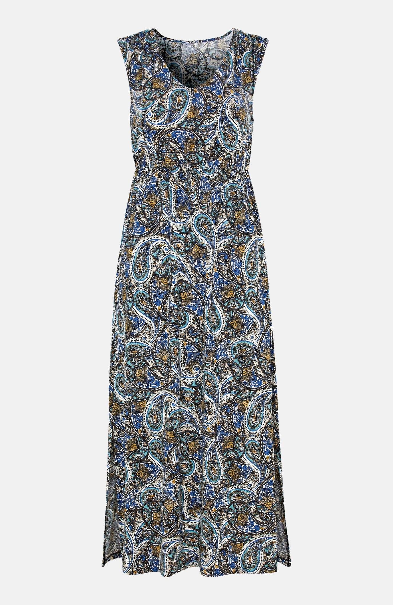 Sukienka maxi zdżerseju